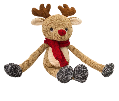 Keel Christmas Knitted Dangle Reindeer 20cm
