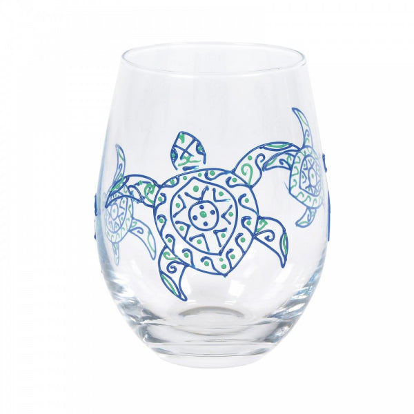 Enesco Entertainment by Izzy and Oliver Green Sea Turtle Stemless Glass