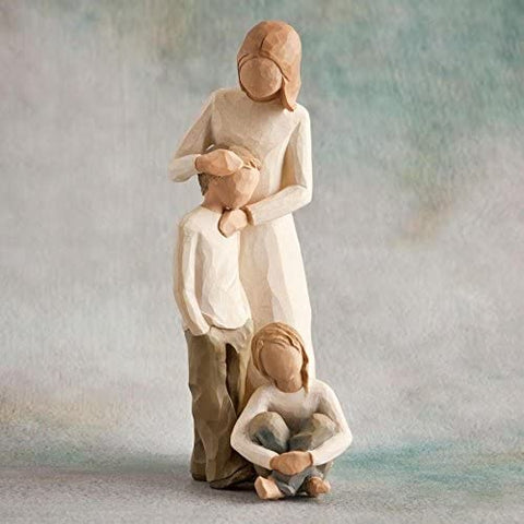 Willow Tree Mother & Son with Daughter Set 26102/26224