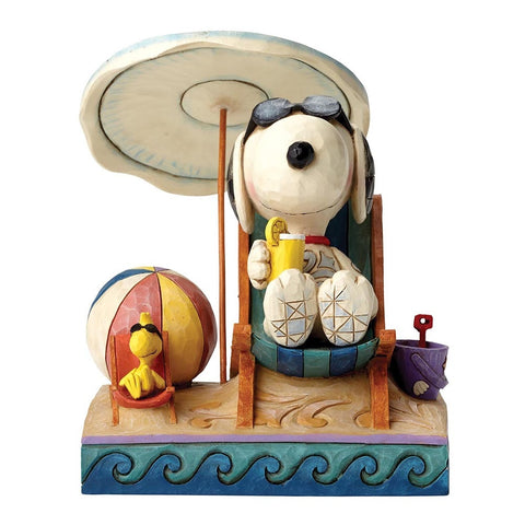 Peanuts By Jim Shore Beach Buddies Figurine 15CM