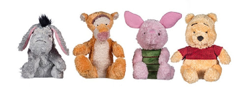 My Teddy Bear Pooh Set of 4 Pooh, Tigger, Piglet and Eeyore Soft Toy 7""