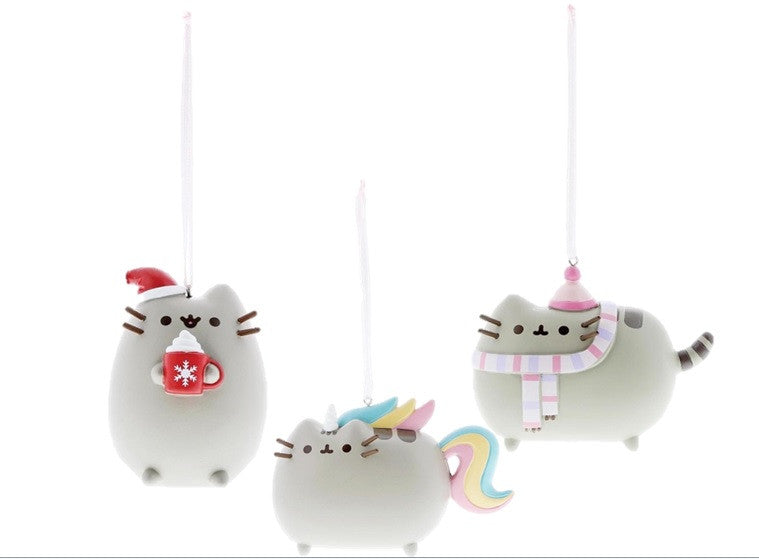 Pusheen hanging Ornaments set of 3