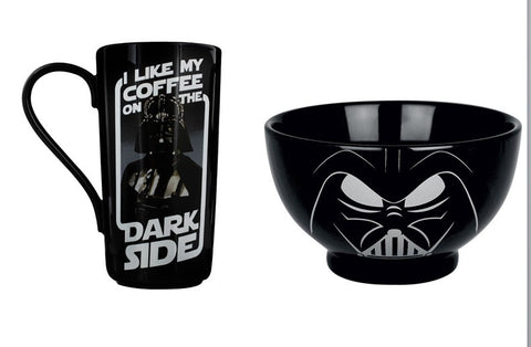 Star Wars Darth Vader Bowl and Latte Mug Set