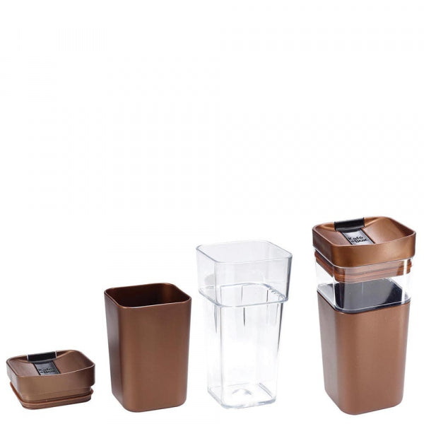Kafe in the Box Designer Travel Mug 16oz - 473ml Med Brown