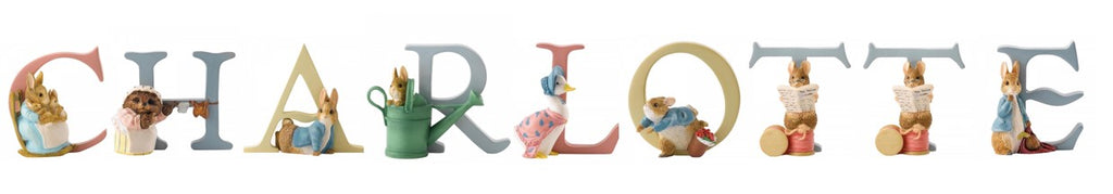 Beatrix Potter Alphabet Letters 'Charlotte' Set