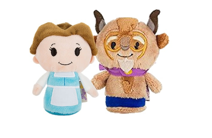Beauty & the Beast Itty Bittys Set of Belle & The Beast 11cm Soft Toy