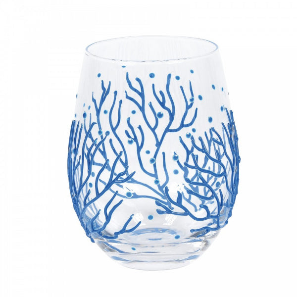Enesco Entertainment by Izzy and Oliver Coral Stemless Glass