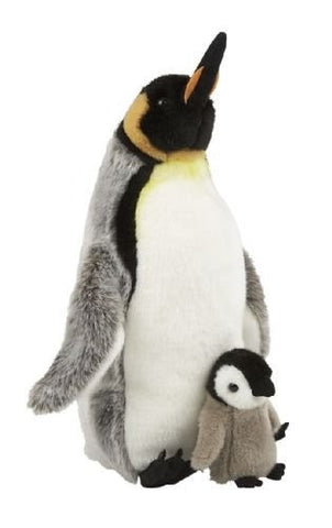 Ravensden Suma Collection Plush King Penguin with Chick 35cm