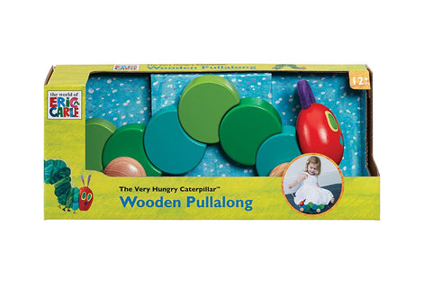 The Very Hungry Caterpillar Wooden Pull Along Toy Rainbow Designs