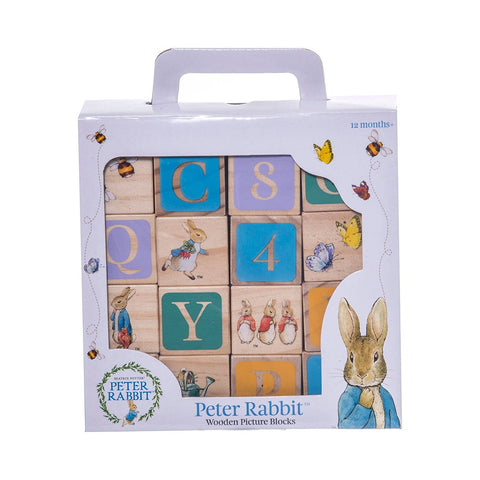 Beatrix Potter Peter Rabbit ABC Wooden Blocks By Rainbow Designs