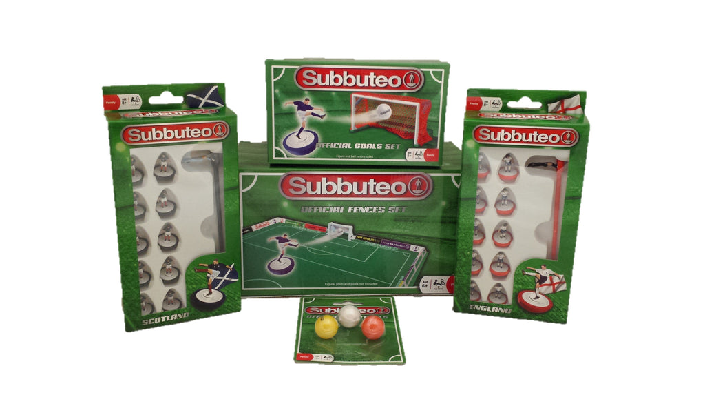 Subbuteo multi set - Goals, Fences, Footballs and 2 Teams
