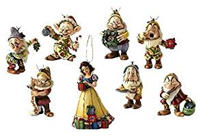 Disney Traditions Snow White & Seven Dwarfs Christmas Decorations Individually Boxed