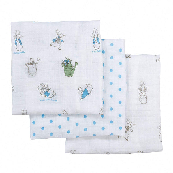 Peter Rabbit Soft Toy and Muslin Gift Set Rainbow Designs