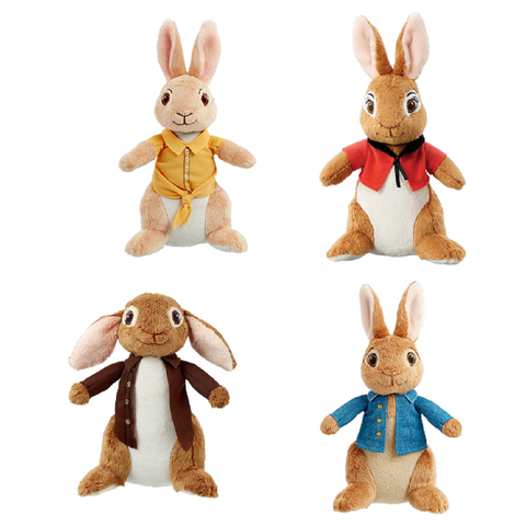 Rainbow Designs Peter Rabbit Movie Soft Toy Set Peter Benjamin Flopsy Mopsy