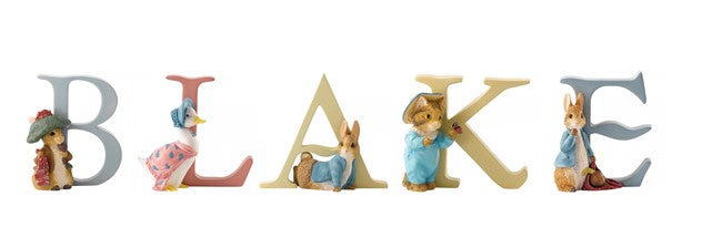 Beatrix Potter Alphabet Letters 'Blake' Set
