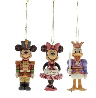 Disney Traditions Mickey Mouse, Minnie Mouse and Donald Duck Hanging Ornament Nutcracker Ornament Set of 3