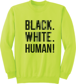 Human Highlight Crewneck (Safety Green) - Unisex