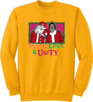 Peace, Love, Unity Christmas Sweater - Crewneck (Gold Limited Edition) - Unisex