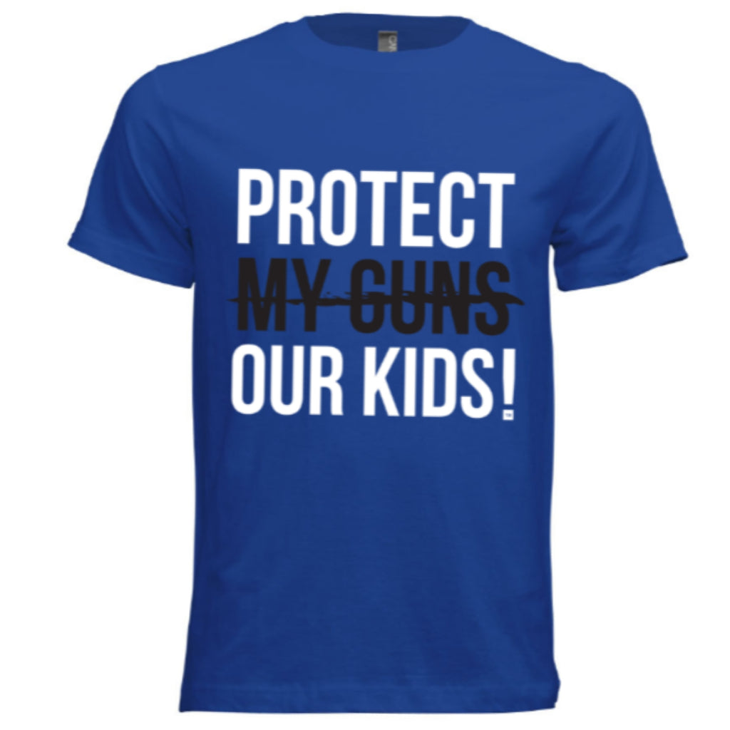 Protect Our Kids! Signature T-Shirt (Royal Blue/White/Black) - Unisex