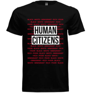 Human Citizens Signature Inclusion T-Shirt (Black/Red/White) - Unisex