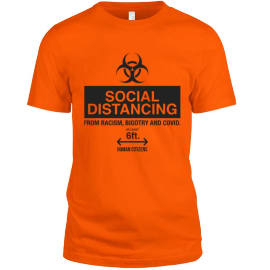 Human Citizens Social Distancing T-Shirt (Orange/Black) - Unisex