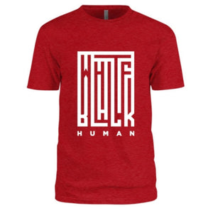 Black, White, Human! Illusion T-Shirt (Red) - Unisex