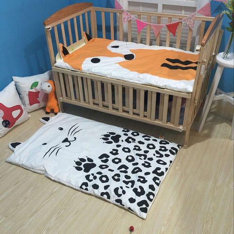 Cat Fox Muslin Cotton Blanket Playing Mats
