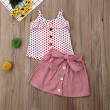 2 Pcs Little Miss Pink Outfit