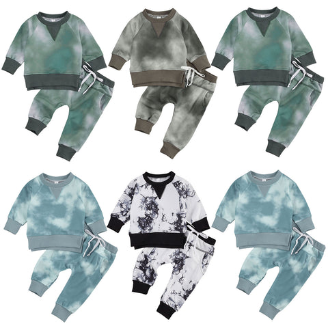 Tie-Dyed 2 Pcs Long Sleeve Outfit