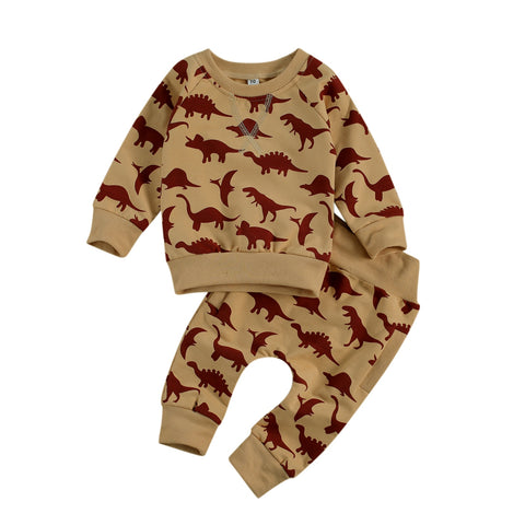 2 Pcs Dino Dino Pajamas / Sweats