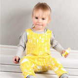 Toddler Yellow Floral Print Romper Jumpsuit
