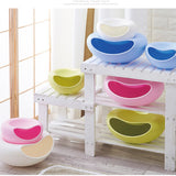 Plastic Storage Double Bowls