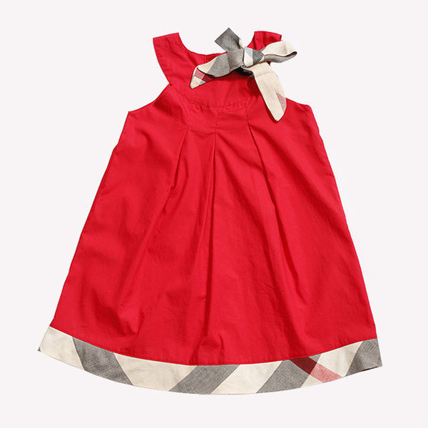 Holiday Dress With Burberry Style Trim