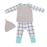 Cotton Grid 3 Pcs Outfit