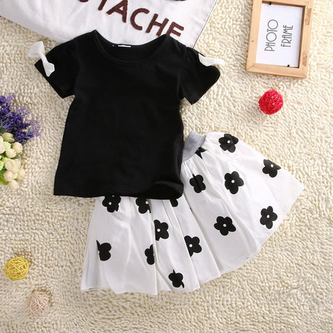 2 Pcs Bebop Black & White Girls Dress