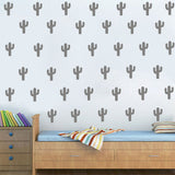 60 Pcs Cactus Kid Room Wall Removable Stickers
