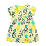 Pineapple Princess Yellow Summer Dress