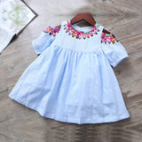Boho Light Blue Girl Dress