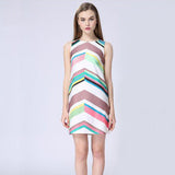 Mommy & Me Matching Colorful Stripes Fashion Dress