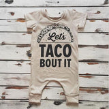 Newborn Let's Taco Bout It Jumpsuit Romper Outfit