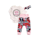 Hello World Romper 2 Pcs Set