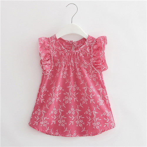 Pink Ruffled Girl Top Dress