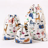 Cute Cartoon Animal Print Storage Bags