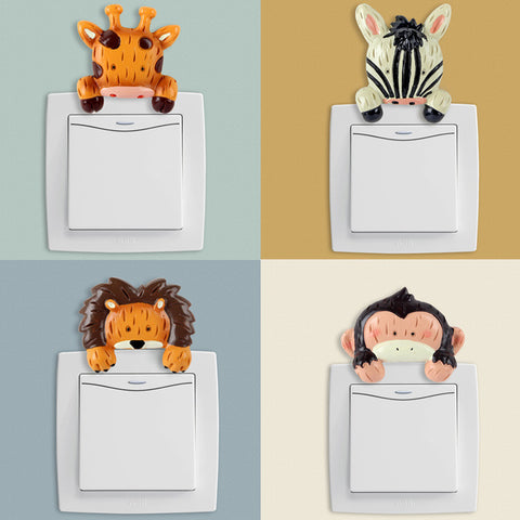 Creative Resin Animal Sticker Switch