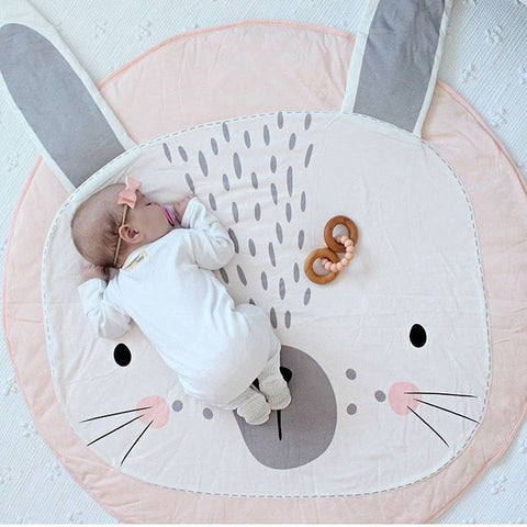 Baby Pink Rabbit Playmat