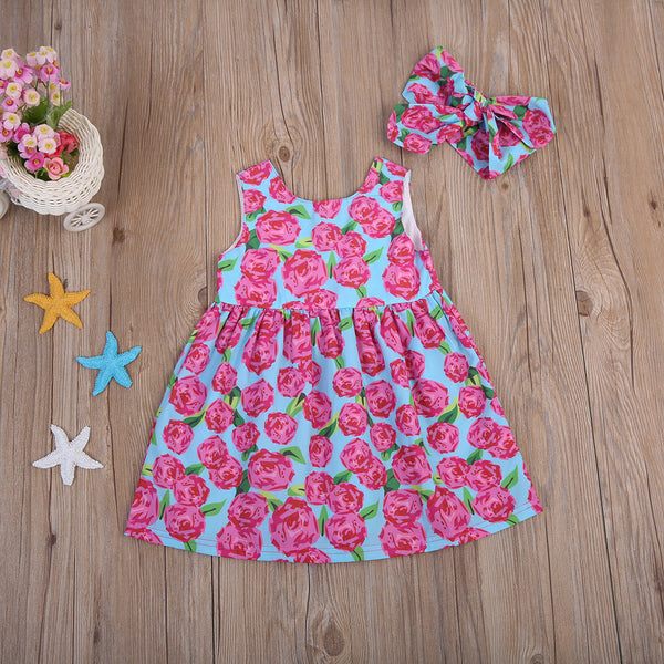 Summer Floral Dress And Headband
