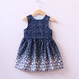 Floral Starry Night Summer Girls Dress