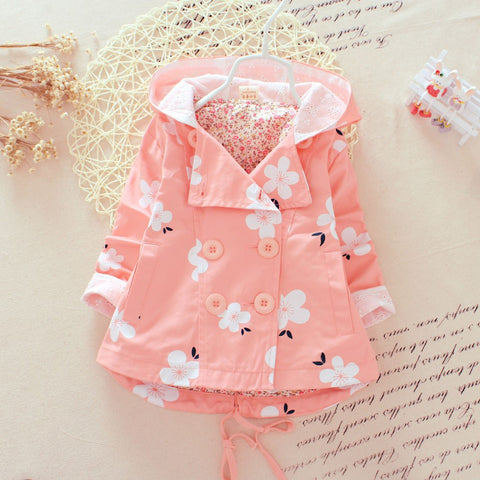 Blossom Flowers Baby Girl Rain Jacket