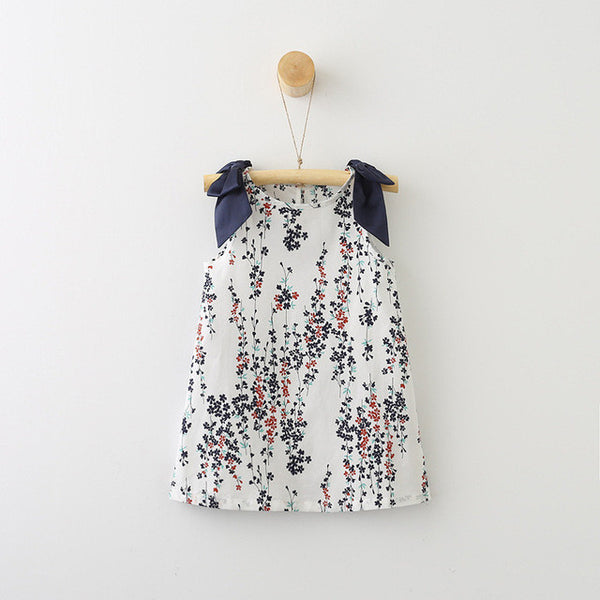 Flower Waterfall Sleeveless Dress