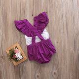Pretty in Purple Cotton Romper